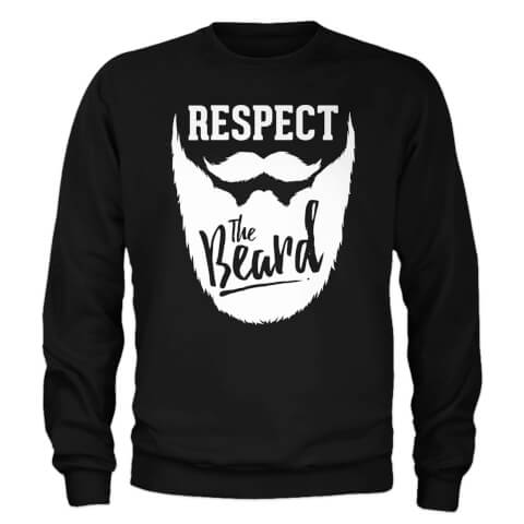 Sweat Homme Respect The Beard - Noir