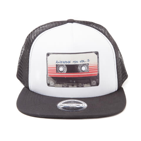 Marvel Guardians of the Galaxy Vol. 2 Mixtape Trucker Cap - Grey/White