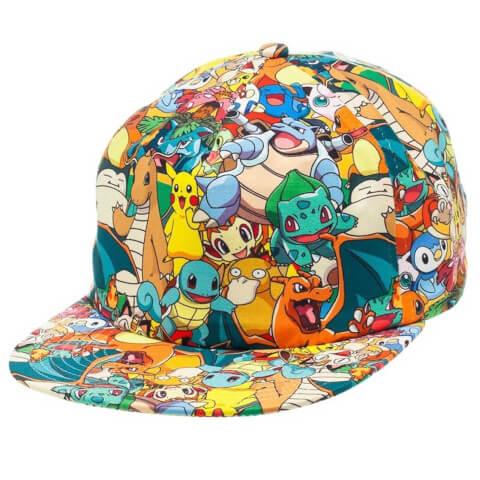 Pokémon Charmander and Friends Snapback Cap - Multi