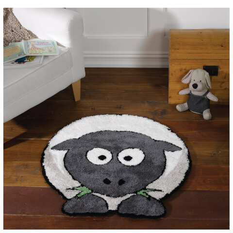 Flair Plush Animals Rug - Sybil Sheep Grey (80X80)