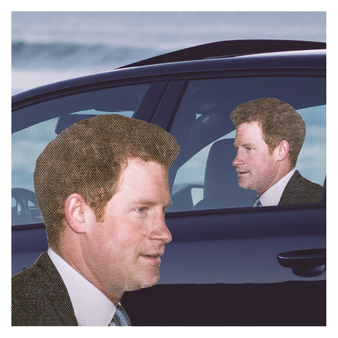 Ride With Car Stickers - Prince Harry