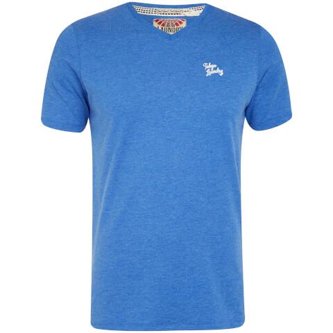 Tokyo Laundry Men's Essential V Neck T-Shirt - Cornflower Blue