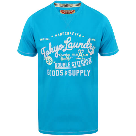 Tokyo Laundry Men's Bailey Springs T-Shirt - Turquoise