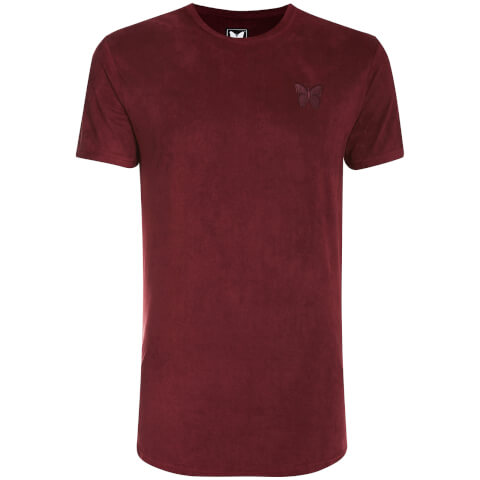 Good For Nothing Men's Suede Essential T-Shirt - Burgundy