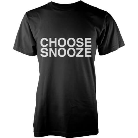 T-Shirt Homme Choose Snooze -Noir