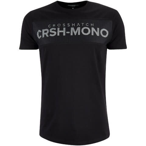Crosshatch Men's Maffle T-Shirt - Black
