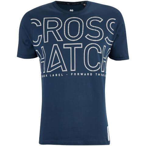 Crosshatch Men's Quahog Chest Print T-Shirt - Midnight Blue