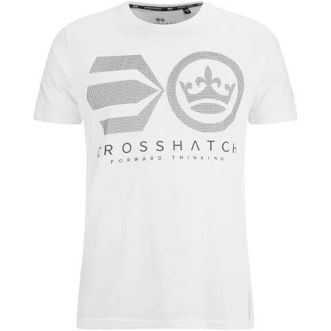 Crosshatch Men's Crossout T-Shirt - White