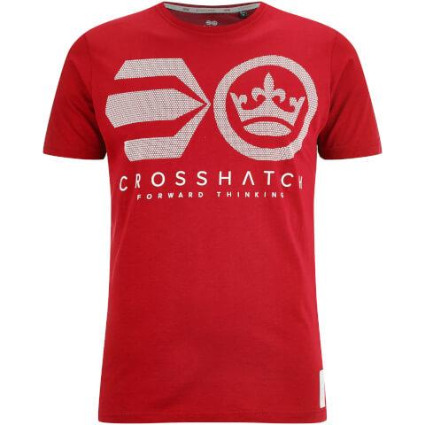 Crosshatch Men's Crossout T-Shirt - Barbados Cherry