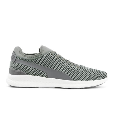 Puma Men's Ignite Sock Knit Trainers - Grey/White
