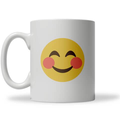 Blush Emoji Mug