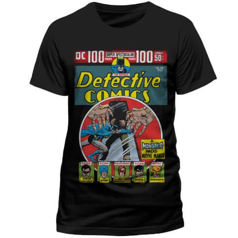 DC Comics Men's Batman Detective Comics T-Shirt - Black