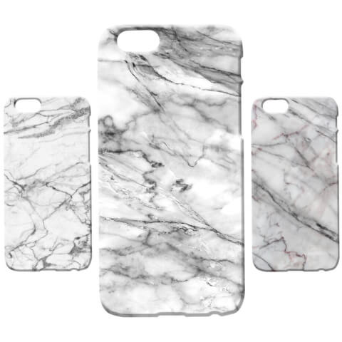 Marble Texture Phone Case for iPhone and Android - White Marbles