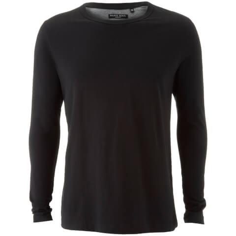 T-Shirt Manches Longues Homme Prague Brave Soul - Noir