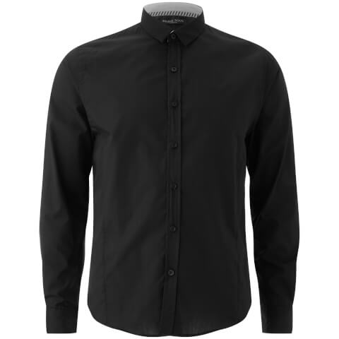 Brave Soul Men's Tudor Long Sleeve Shirt - Black