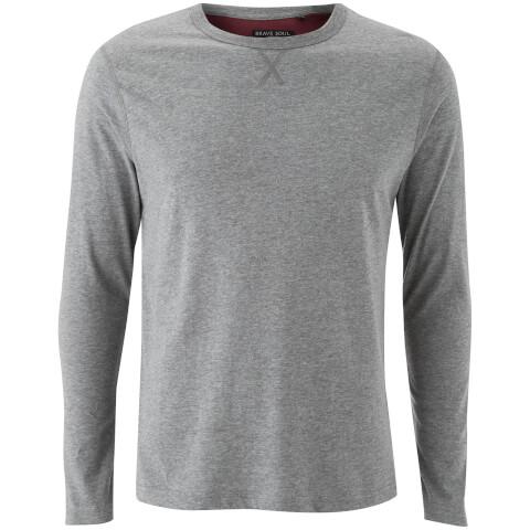T-Shirt Manches Longues Homme Prague Brave Soul - Gris Chiné