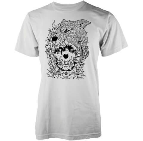 Abandon Ship Men's Skinned Fox T-Shirt - White