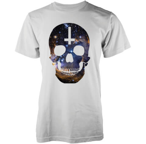 T-Shirt Homme Crâne Galaxie Abandon Ship - Blanc