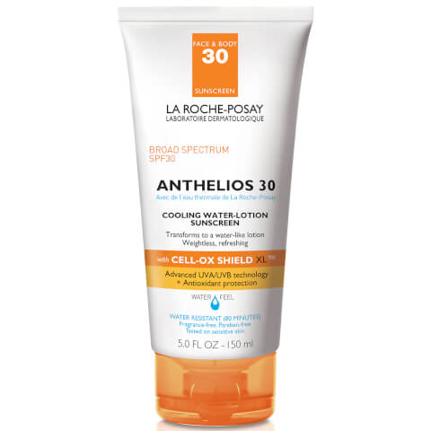 La Roche-Posay Anthelios Cooling Water-Lotion SPF 30, Body and Face Sunscreen with Antioxidants, 5 Fl. Oz.