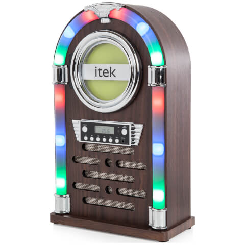 iTek Multi-Functional Bluetooth Jukebox with CD Player and FM Radio - Black