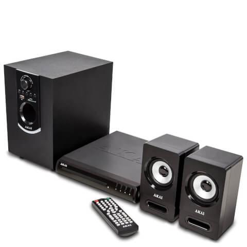 Akai 50W Bluetooth DVD Home Theatre System - Black