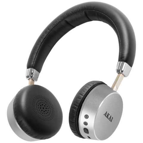 Akai DYNMX Wireless Bluetooth Headphones - Silver