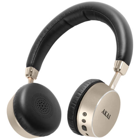 Akai DYNMX Wireless Bluetooth Headphones - Champagne