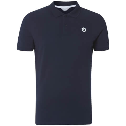 Jack & Jones Men's Core Booster Logo Polo Shirt - Navy
