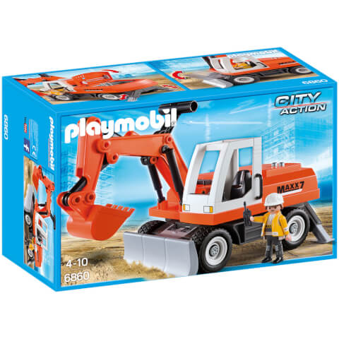 Tractopelle avec godet (6860) -Playmobil City Action