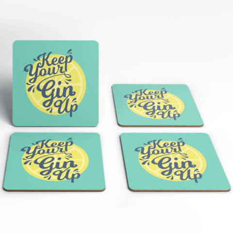 Keep Your Gin Up Coasters