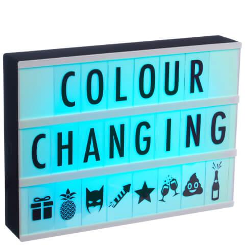 Lightbox Cinématique qui Change de Couleur A4 - Noir