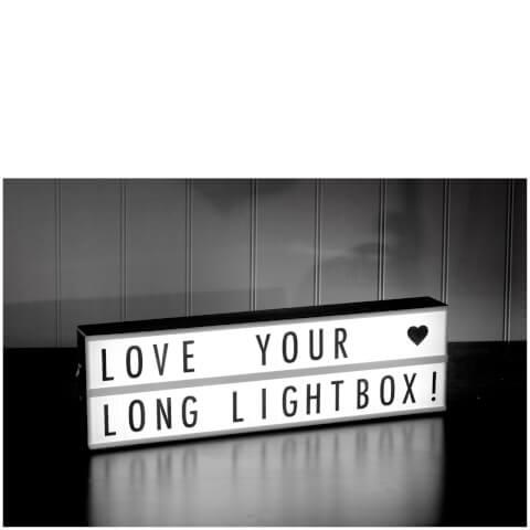 Landscape Cinematic Lightbox with 85 Letters - Black