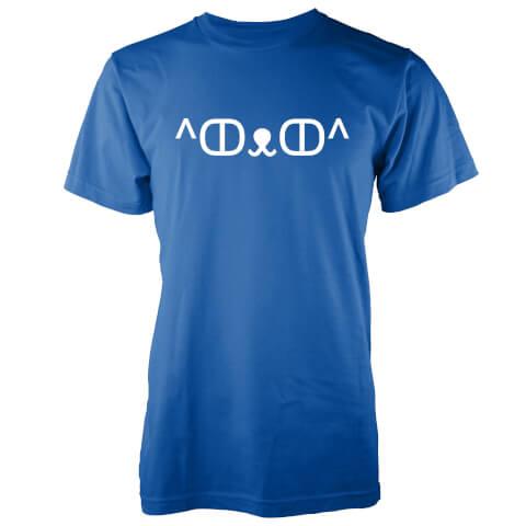 T-Shirt Homme Chat Mignon Jemoticon -Bleu