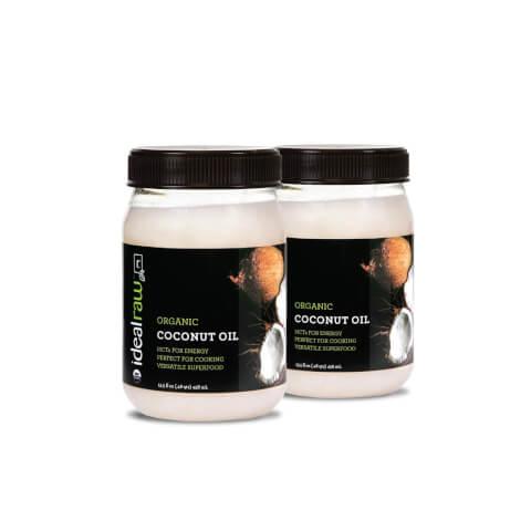 IdealRaw Organic Coconut Oil - 2 Pack