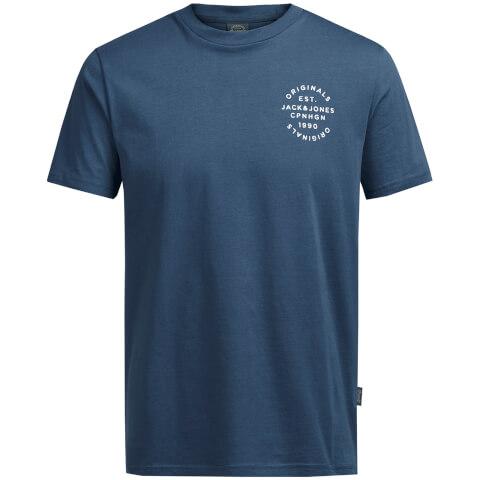 Jack & Jones Men's Originals Organic T-Shirt - Ensign Blue