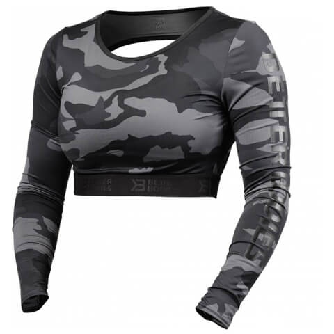 Better Bodies Chelsea Cropped Long Sleeve Sweatshirt - Dark Camo