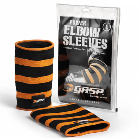 GASP Power Elbow Sleeves - Black/Flame