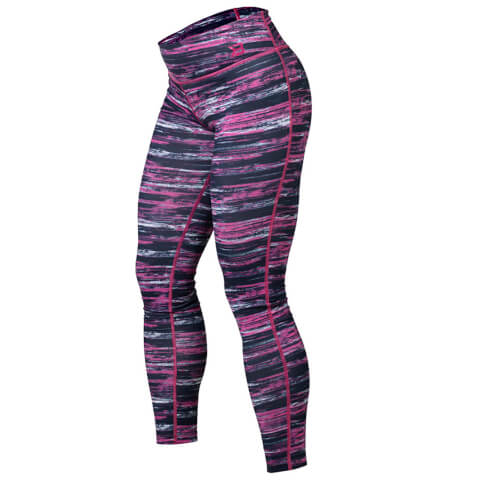 Better Bodies Printed Tights - Black/Pink