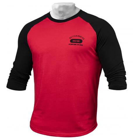 Better Bodies Men's Baseball T-Shirt - Bright Red