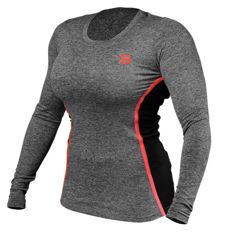 Better Bodies Performance Shape Long Sleeve T-Shirt - Antracite Melnage