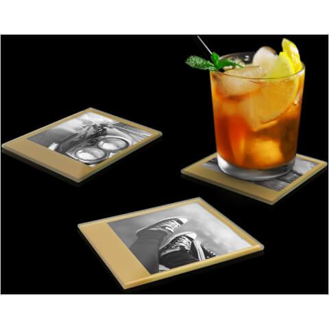 Photo Coasters – Retro Gold
