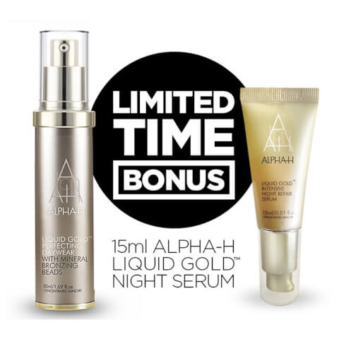 Alpha-H Liquid Gold Perfecting Day Wear 50ml And Receive Alpha-H Liquid Gold Night Serum 15ml Free