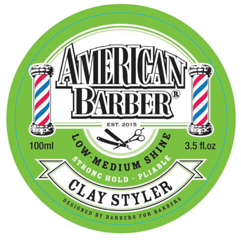 American Barber Low To Medium Shine Strong Hold Clay Styler 100ml