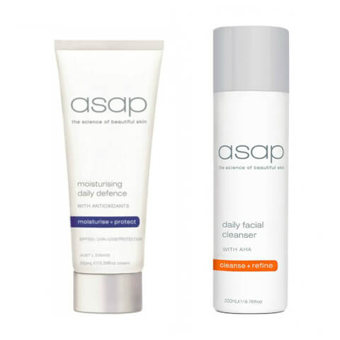 asap Gentle Daily Cleanser 200ml + Moisturising Daily Defence SPF50+ (100ml)