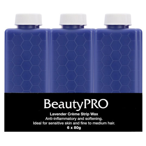 BeautyPro Lavender Creme Strip Wax 6 x 80g