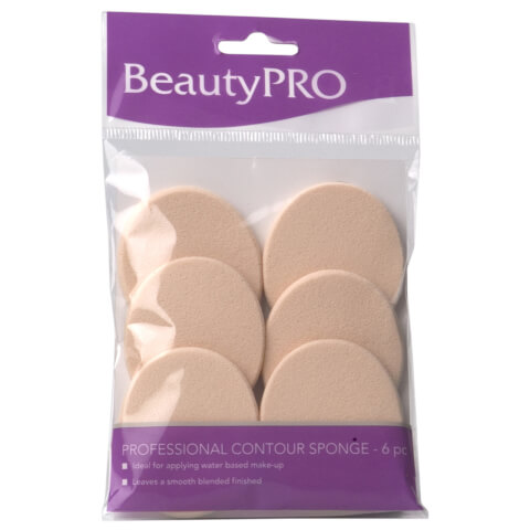 BeautyPro Small Contour Sponge Oval 6Pk