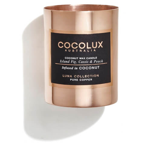 Cocolux Australia Copper Candle Luna Candle - Island Fig Cassis And Peach 150g