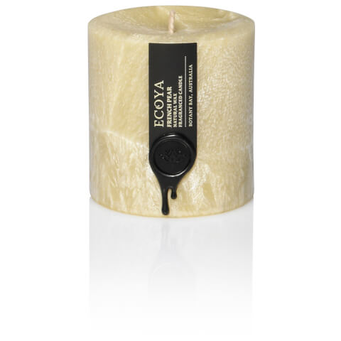 ECOYA French Pear Coloured Small Pillar Candle