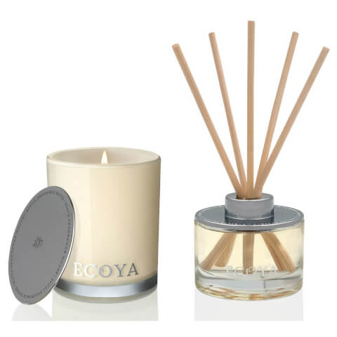 ECOYA Mini Madison Candle And Mini Reed Diffuser Set - Lotus Flower