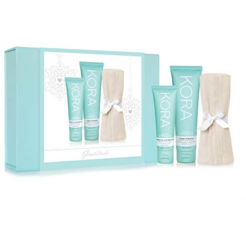 Kora Organics By Miranda Kerr Gratitude Hydrating Day And Night Cream And Cream Cleanser Gift Pack